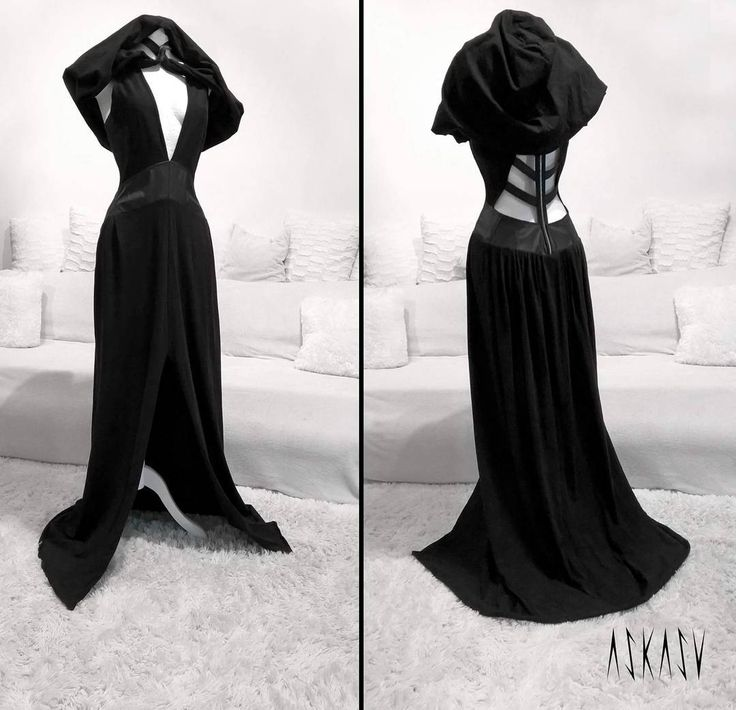 Occult long dress - hood ;) A single piece available on http://etsy.com/shop/Askasu