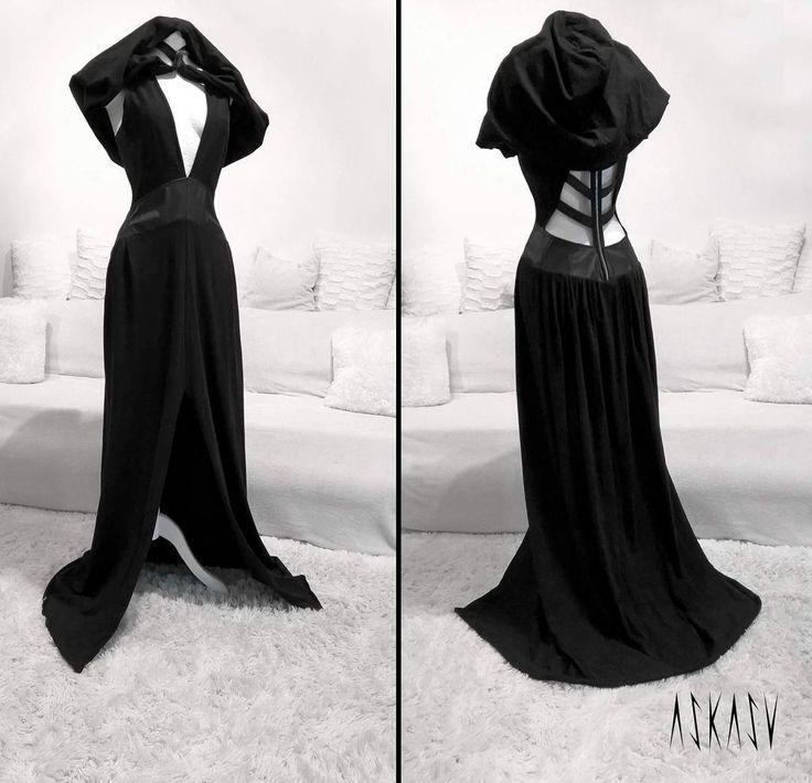 Occult long dress - hood ;) A single piece available on http://etsy.com/shop/Askasu