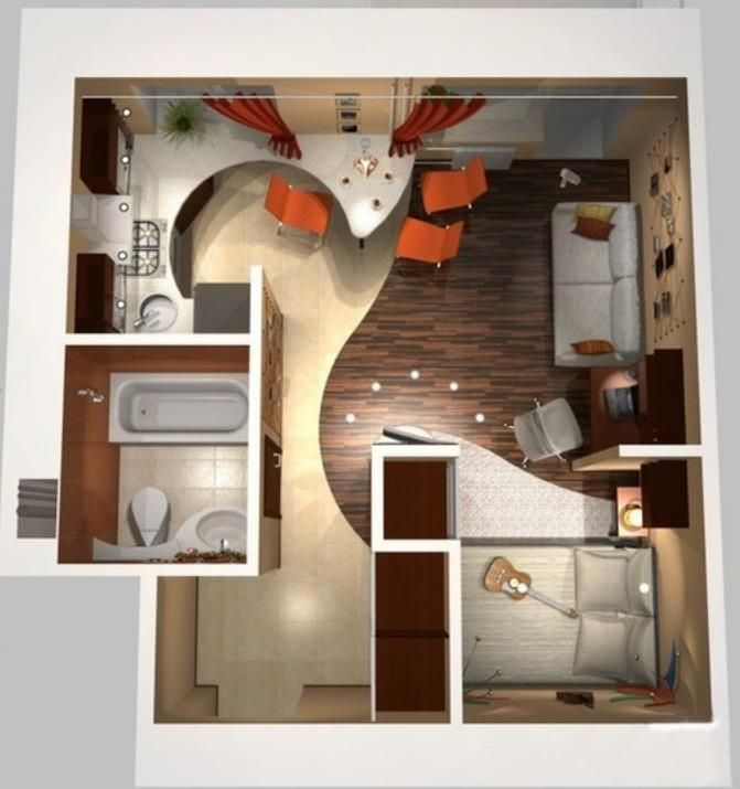Studio Apartment Concept 129 best small apartment plans and layouts images on pinterest
