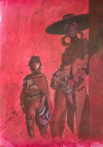 Boba Fett and Cad Bane Poster by DaveFiloni