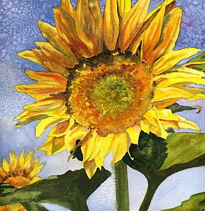 Sunflowers Painting - Sunflowers II by Anne Gifford