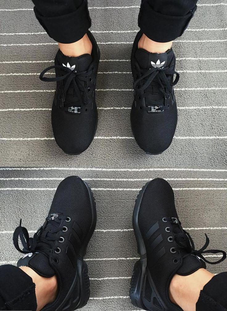 Adidas Zx Flux Shoes Triple Black Sneakers In 2020