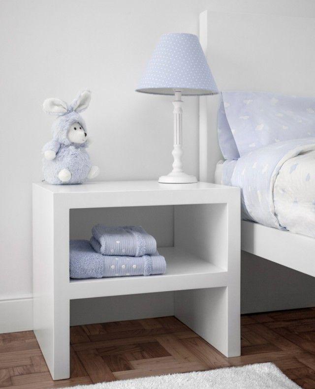 Mesita de noche para beb gotting n mesita de noche infantil dise ada en madera lacada en - Ideas mesitas de noche ...