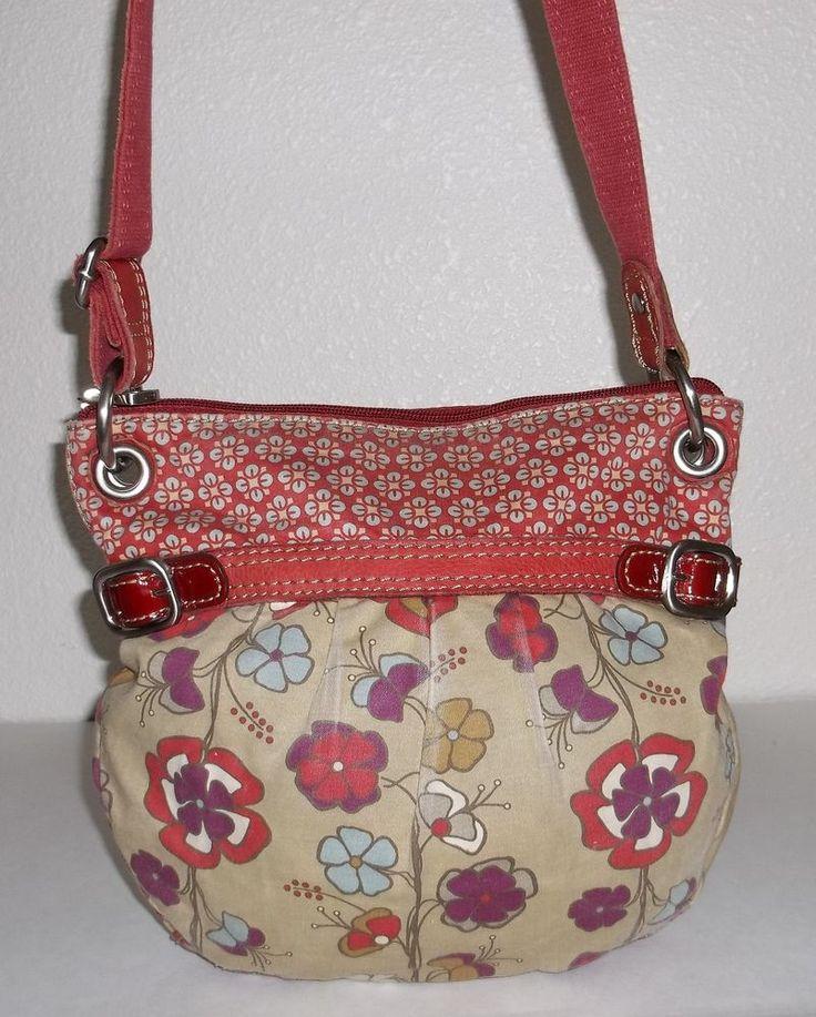 Fossil Khaki & Red Flower Print Crossbody Shoulder Bag Purse Handbag   Clothing, Shoes & Accessories, Women's Handbags & Bags, Handbags & Purses   eBay!