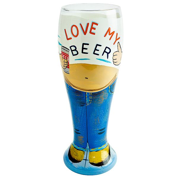 lolita beer belly pilsner glass 229oz 650ml hand painted beer glass pilsner glasses - Glass Beer Mugs