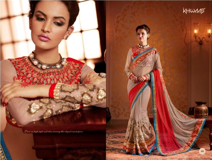 Sari Indian Designer Saree Bollywood Party wear Dress Women Wedding Ethnic 60 #StyleFashionHub #Saree #PartywearWeddingFestivalBridalCasual