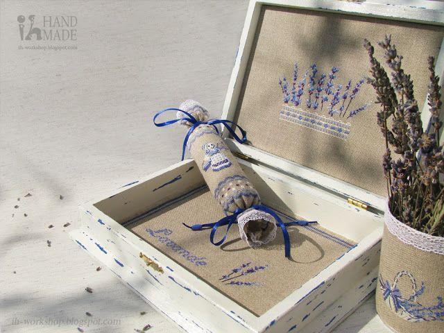 Création Point de Croix : Fleurs de lavande ♥ Лавандовая шкатулка
