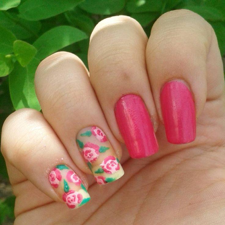 Domi Králiková (@domi_nailart) Roses are not always red #nailartwow #nailartaddict #nailart #nailartclub #nailartist #nailartideas #naildesign #nails #roses #summernails #rosenails #flowernailart #flowers #pinknails #longnails #follow #follownails