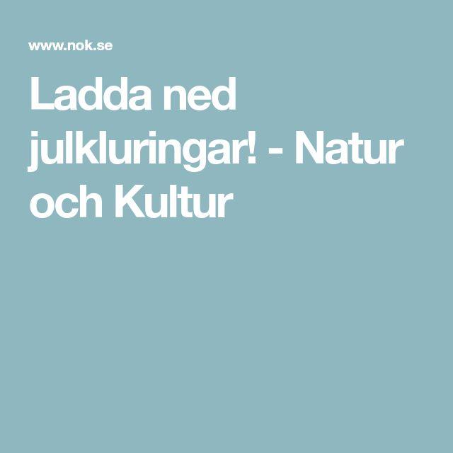 Ladda ned julkluringar! - Natur och Kultur