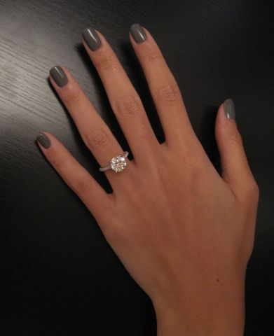 oh my gosh. this is it. I LOVE THIS RING. I've always wanted a round diamond with a skinny silver band and that doesn't look weird from a profile view, and THIS is it. I'M IN LOVE. <3 <3 <3 <3 <3 <3 <3