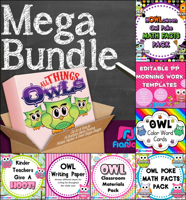 """OWL MEGA BUNDLE! This bundle is a collection of all my owl materials and is created for the teacher who loves """"all things owls."""" From center games to classroom decor, this resource will have you covered when it comes to the owl theme."""