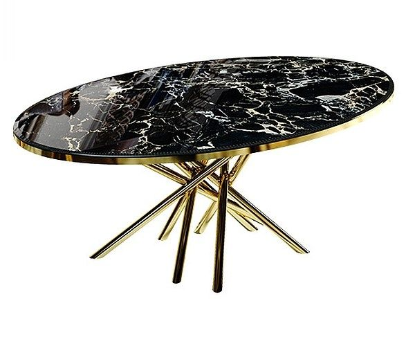 Contemporary style oval marble table DUCHESS | Natural stone table - Malabar Emotional Design