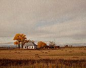 Fall Landscape Photography, Farmhouse Hay Bales, Autumn Wall Art, Home Decor, Rustic Photography,   'Hay For Sale'