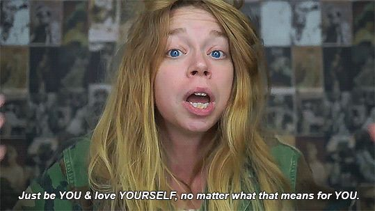 I enjoy Bunny's (aka grav3yardgirl) YouTube channel. She makes hilarious videos and she has NEARLY SEVEN MILLION FOLLOWERS. Which is why this particular video makes me ill. She's misleading so many people with this horrible humanist mantra. We live in a broken, depraved world where the only thing that matters is loving YOURSELF and being YOU