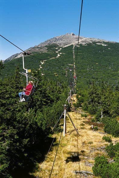 lanovka na Sněžku, Krkonoše  cableway to Snezka, Giant Mountains