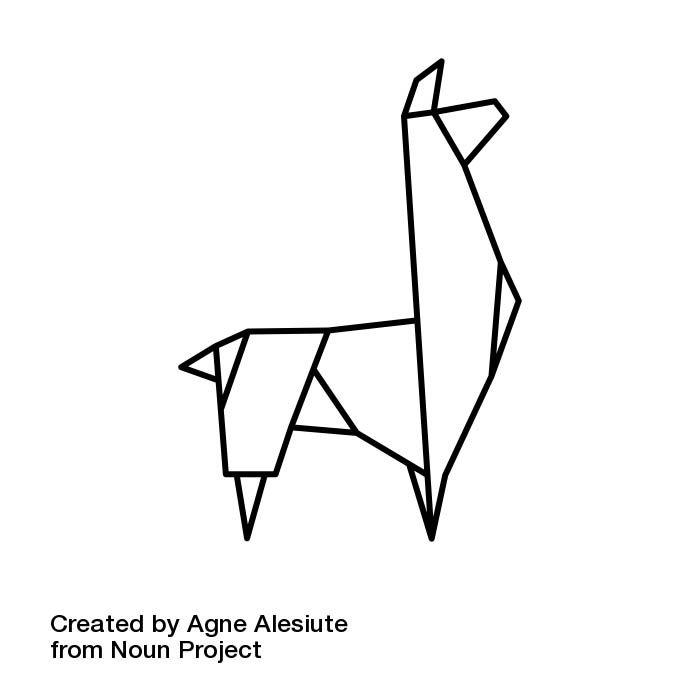 Llama alpaca icon- download here https://thenounproject.com/grrrauf/collection/origami-animals/?i=516459