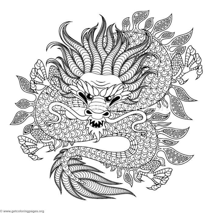 Free Instant Download --> https://www.getcoloringpages.org/coloring/33950 Mystical Dragon Coloring Pages