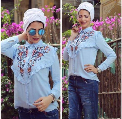 Cute turban hijab summer style-Street fashion style – Just Trendy Girls