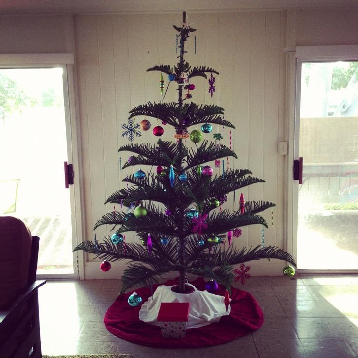 White Christmas Tree Decorations Australia: Norfolk Pine Christmas Tree