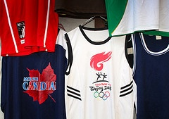 You can even find a Beijing Olympics Torch Relay vest at Owino market in Kampala!