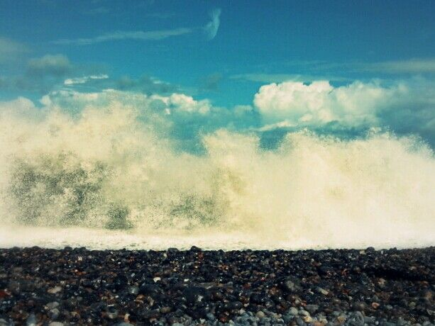 Views of Normandy from my current car trip - The wave & the sky - Dieppe