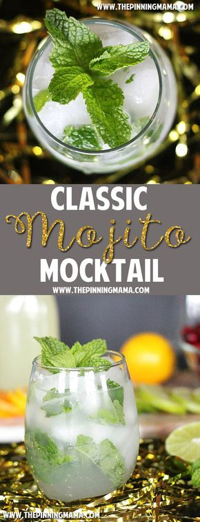 Virgin Mojito recipe - If you LOVE mojitos you are going to LOVE this!  It is perfect for entertaining so you have a non-alcoholic option everyone can enjoy! #sparlingholidays AD