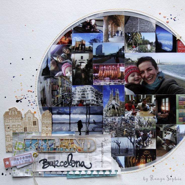 Srapbook layout by Ranga Sophie  #scrapbook #scrapbooking #layout #rangasophie #barcelona #nöicsizmadesign