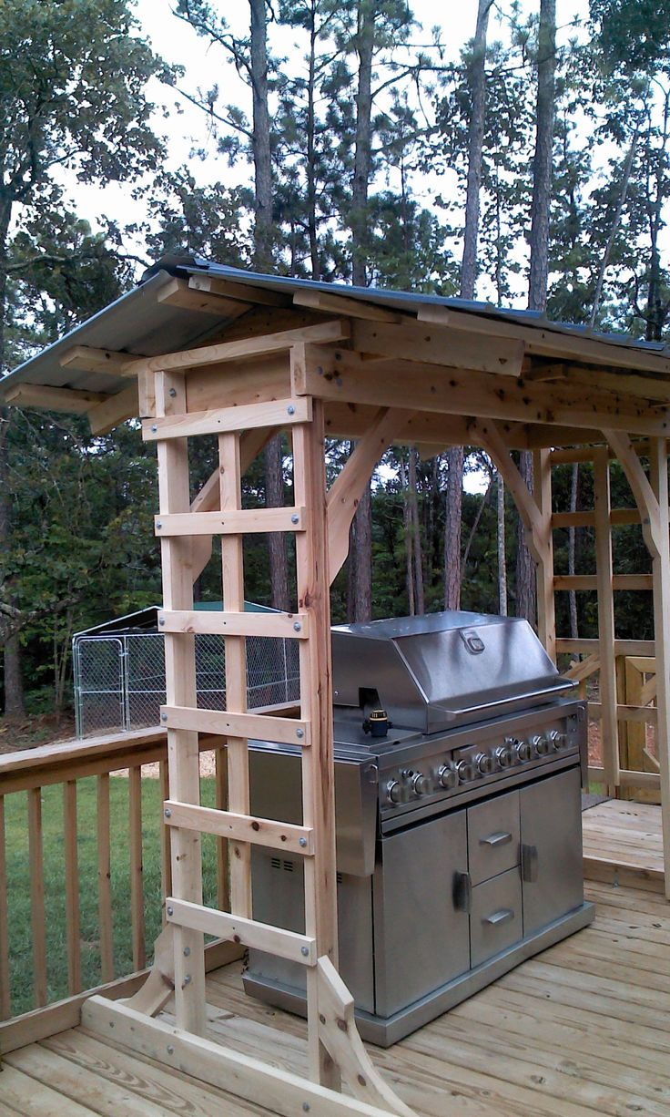 Best 25 grill area ideas on pinterest outdoor grill for Outdoor cooking station plans