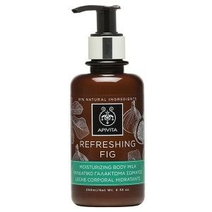 REFRESHING FIG Moisturizing Body Milk with fig.#Moisturization #Revitalization #Senseof #freshness Moisturizing body milk inspired by the principles of aromatherapy, which provides care for the skin leaving it soft and lightly scented. It offers moisturization thanks to the fig extract, whereas the lavender and geranium essential oils grant a rich and lively scent for increased freshness. Suitable for men and women. Read more at www.apivita.com