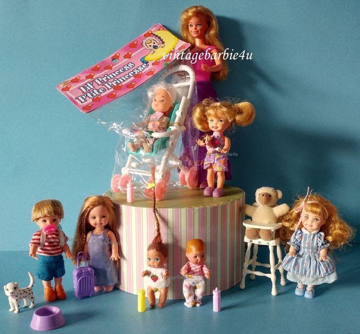 Vintage Barbie Doll Lot Skipper Kelly Krissy Baby Pacifier Stroller Cindy Mattel #Mattel #DollswithClothingAccessories