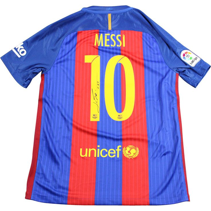 Lionel Messi Signed Barcelona Home 16/17 Jersey (Signed on Back) (ICONS Auth)