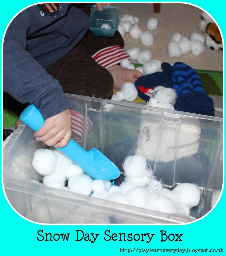 Play & Learn Everyday: Snow Day Sensory Box