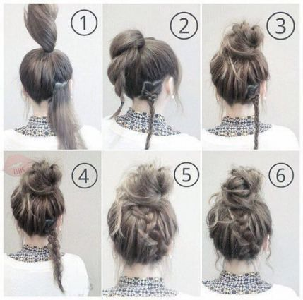 New Hairstyles Easy Quick Lazy Hair Messy Buns Ideas - #hairstyles #ideas #messy...