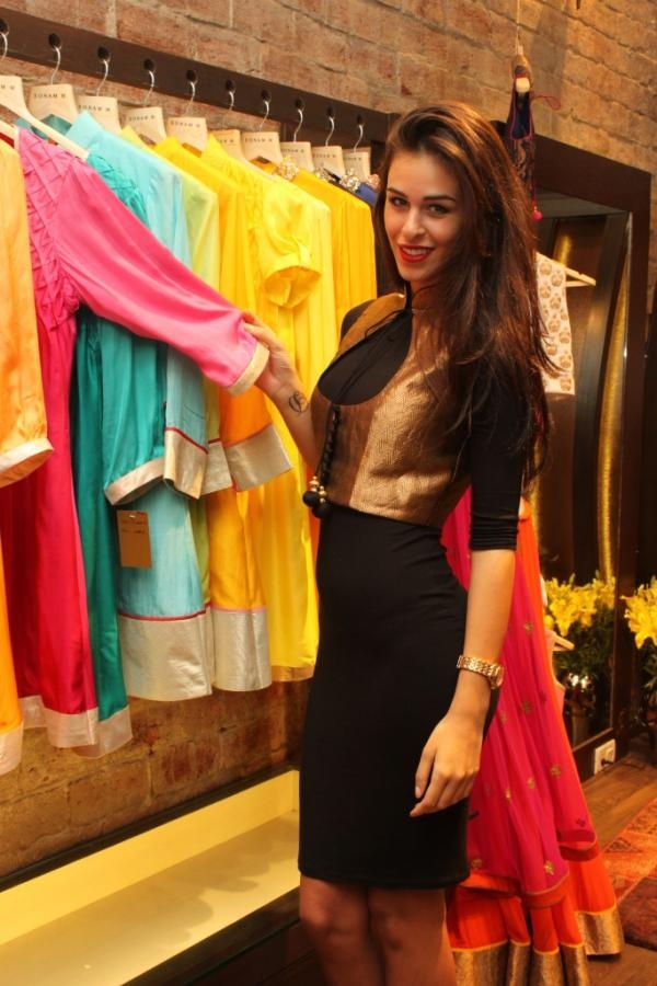 Sonam M's koti paired with Nevena's black fitted dress. We love!