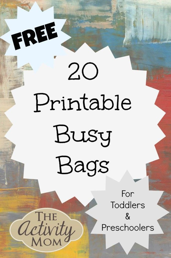 "A BIG list of printable busy bag ideas for your preschooler! That's A LOT of ""keeping busy"" activity!!"