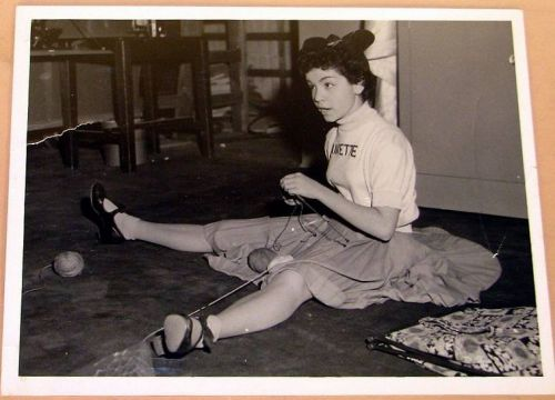 Anyone who grew up in the 1950's remembers Annette Funicello, the most popular of the Mouseketeers on the original Mickey Mouse Club, which ran from 1955-59.   Here she is, apparently on the …