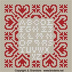 Steekjes & Kruisjes van Marijke: Gratis borduurpatronen - hartjes alfabet