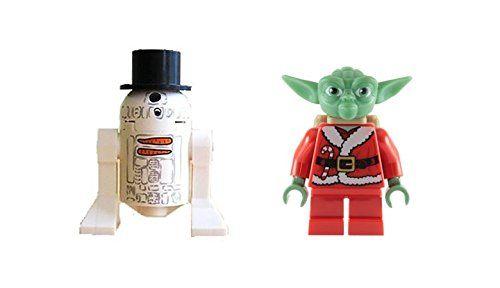 Lego Yoda Santa and R2D2 Snowman Minifigures Star Wars Christmas Advent Calendar * See this great product.