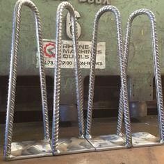 Hairpin legs 2 branches en fer a beton hauteur 30 ou 35 cms