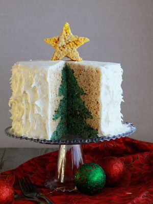 A Holiday Surprise Cake | FN Dish – Food Network Blog    But do it with a rectangle cake instead of treats. Awesome!