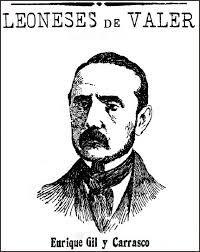 Retrato a plumilla, de autor anónimo, publicado en El Diario de León, 21 de enero de 1908