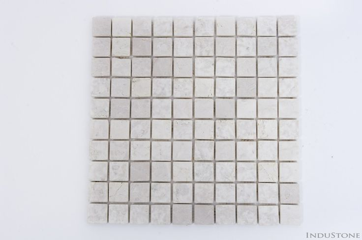 CREAM SQUARE kremowa KOSTKA 3x3 mozaika kamienna na siatce INDUSTONE