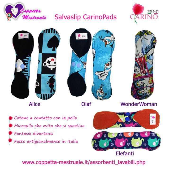 CarinoPads: the artisan lady liners and pads Made in Italy. Limited edition.