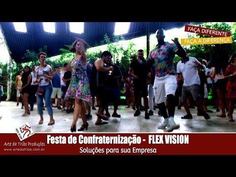 Arte da Tribo  - Festa de Confraternização FLEX VISION - Animação de Pis...
