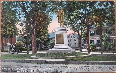 1910 Postcard Josiah Bartlett Statue Amesbury Mass MA | eBay