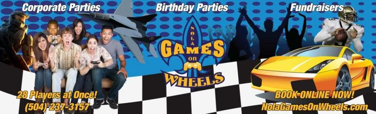 We are the #bestmobilegametruck in #NOLA! We are guaranteed to give you the best birthday experience!  #NOLA #Terrytown #BirthdayIdea #VideoGameParty #Louisiana #NOLAGamesOnWheels  http://nolagamesonwheels.com/