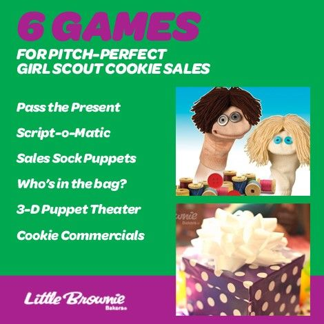 Girl Scouts learn self-confidence when they practice their sales pitches. Try these fun games to build their people skills.
