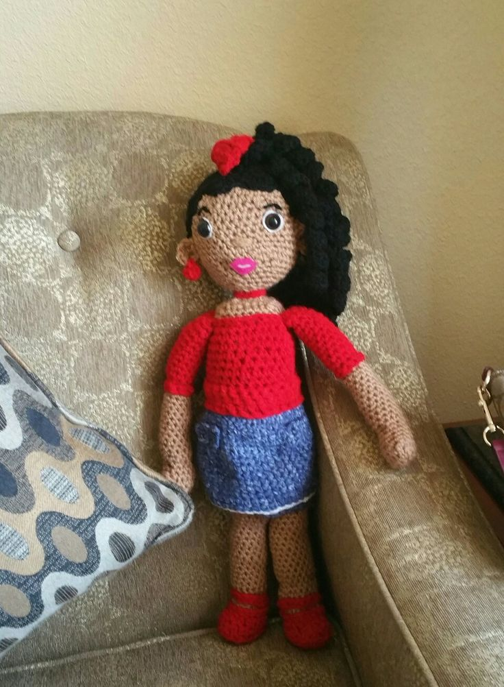 My new crocheted doll, Ava said hello from Gaslamp Plaza Suites in downtown San Diego, California.