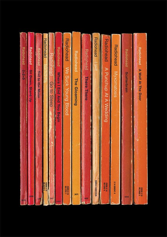 Radiohead 'Hail to the Thief' Album As Books Poster Print via Etsy