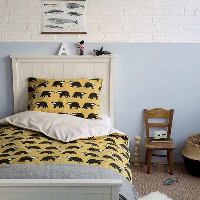 Fingers crossed this new bed set will keep the little ones in their rooms a little longer on a Sunday morning!    Our new Kissing Badgers bed sets online now x    #kidsbedroom #bedding #kidsbedsets #anorakonline #kissingbadgers #anorakonline #getoutside #homewares #homedecor #decorhome #urbaanihomewares #kidsbedroom #nurseryinteriors #kidsinteriors #coolstuff